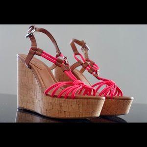 Coach Summer Pink Platform Sandals Size 6.5 New